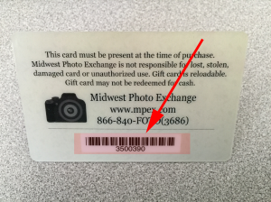 Just locate your gift card number on back of MPEX gift card and fill out form below!